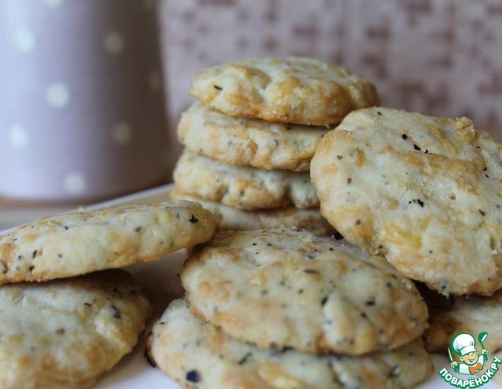 Рецепт: Сырное печенье к пиву или вину