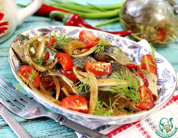 Рецепт: Маринованная скумбрия с соевым соусом
