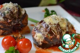 Рецепт: Фаршированные баклажаны в томатном соусе