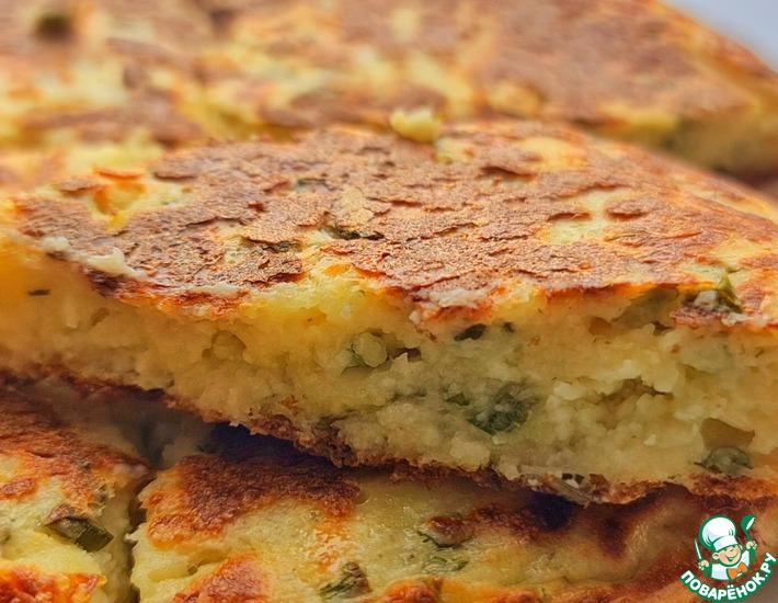 Рецепт: Творожно-сырная лепёшка