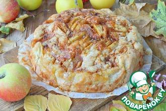Рецепт: Яблочный пирог Карамельная гармошка