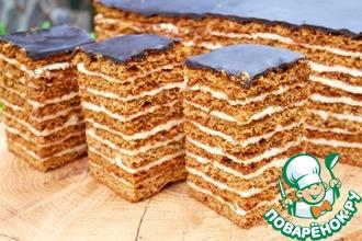 Рецепт: Торт Медовый пух