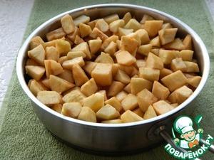 Яблочный кухен Экономично, быстро, вкусно Масло растительное