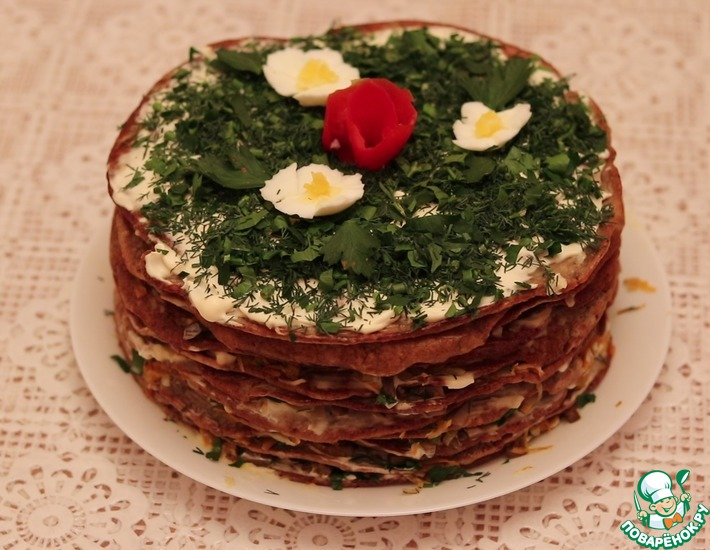 Рецепт: Печеночный торт