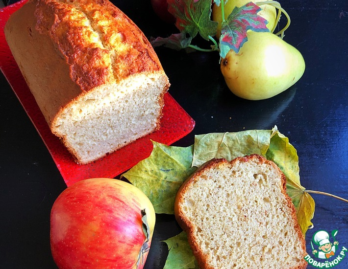 Рецепт: Осенний кекс на фруктовом пюре