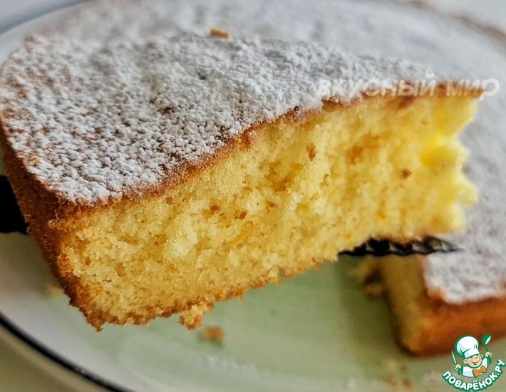 Рецепт: Нежный апельсиновый пирог