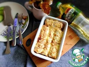 Ленивый бризоль с курицей и сыром Для начинки