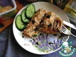 Ленивый бризоль с курицей и сыром Яйцо куриное