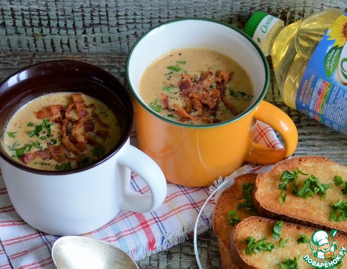 Рецепт: Сырный суп на пиве