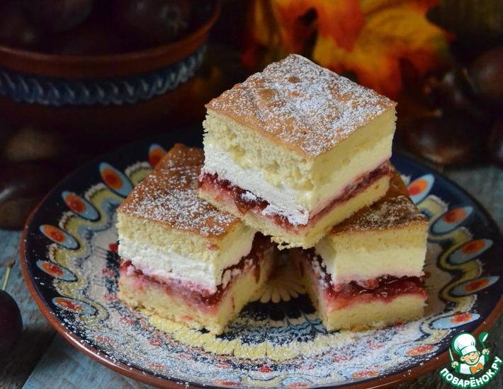 Рецепт: Пирог со сливовой начинкой