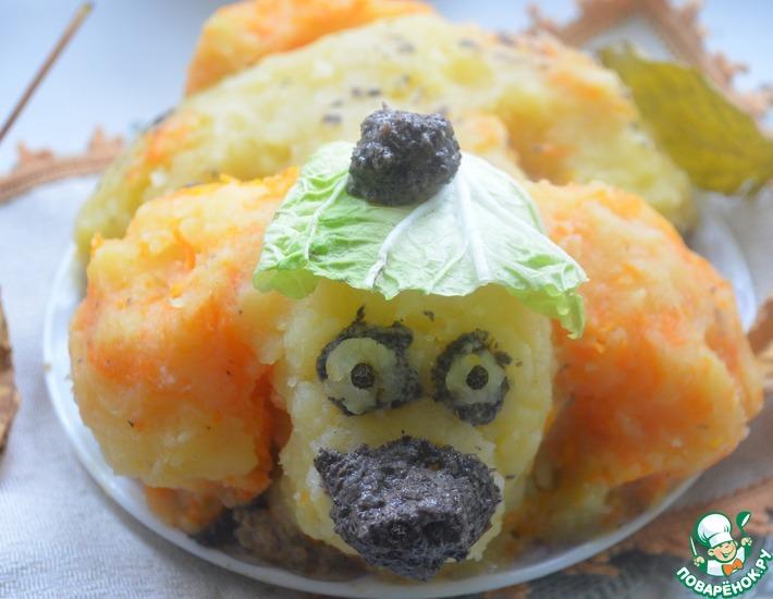 Рецепт: Картофельная запеканка с грибами