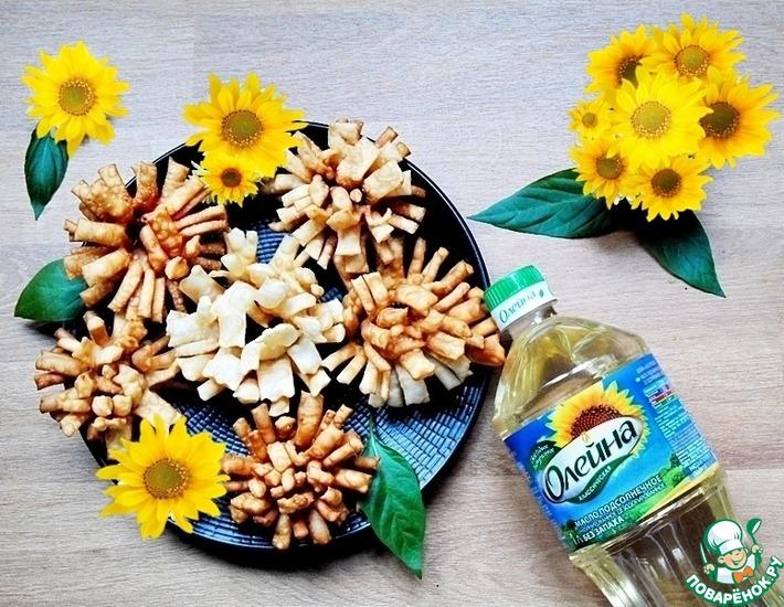 Рецепт: Хворост Хризантемы и не только
