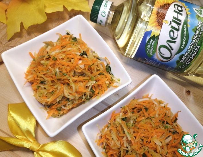 Рецепт: Салат с морковью и редькой Иммунный