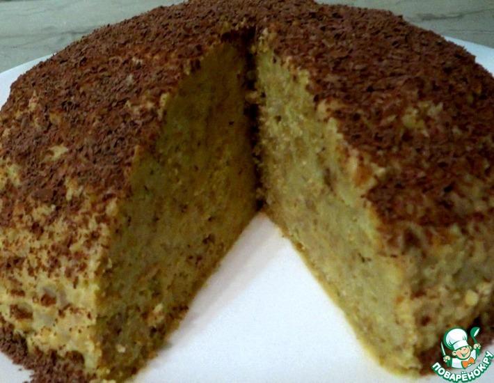 Рецепт: Торт Муравейник с нетрадиционным кремом
