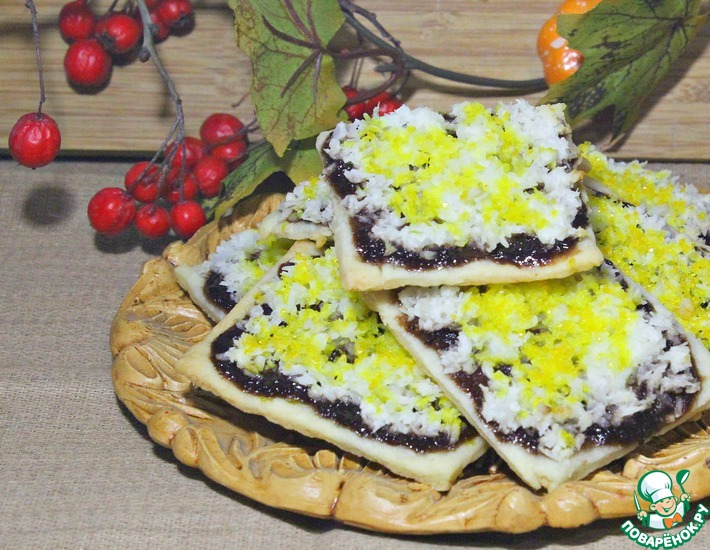 Рецепт: Печенье на творожном тесте с джемом