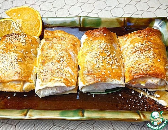 Рецепт: Морковные пирожные в лаваше
