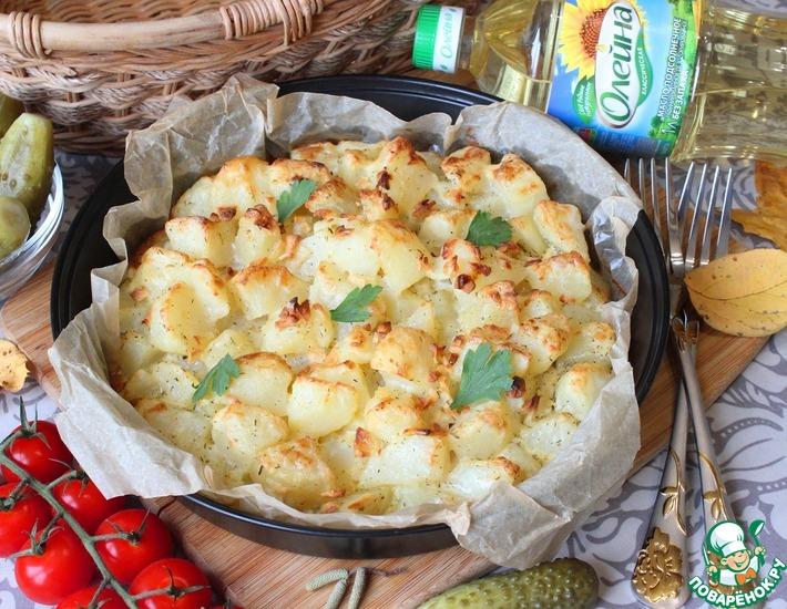 Рецепт: Печёный картофель с яйцом