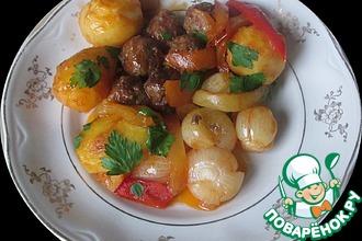 Рецепт: Фрикадельки с картошкой и луком