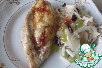 Рецепт: Фаршированная куриная грудка