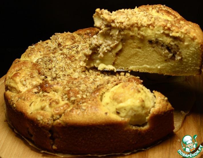 Рецепт: Яблочный пирог с начинкой По-новому