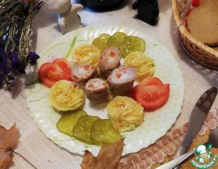 Рецепт: Мясные рулетики Домашние колбаски