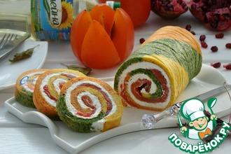 Рецепт: Закусочный рулет Краски осени