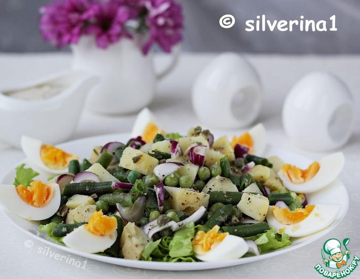 Рецепт: Картофельный салат с пикантным соусом