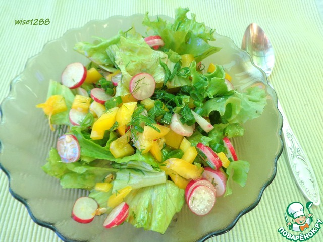 Салат с перцем и редисом