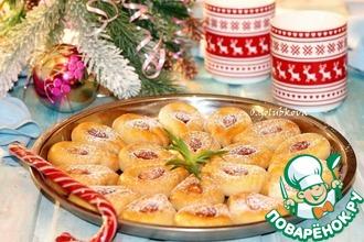 Рецепт: Печенье с орехами Подкова на счастье