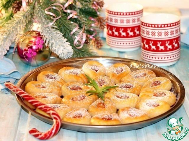 """Печенье с орехами """"Подкова на счастье"""""""