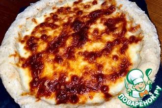 Рецепт: Ленивая сырная пицца