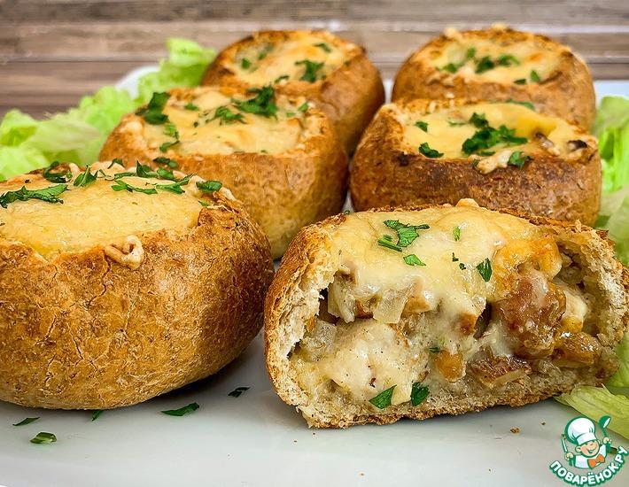 Рецепт: Закусочные булочки с начинкой