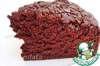 Рецепт: Шоколадный пирог без яиц