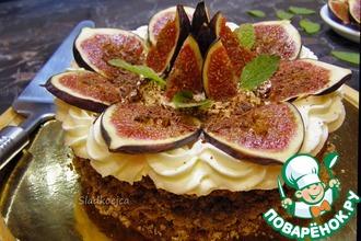 Рецепт: Ореховый десерт с инжиром