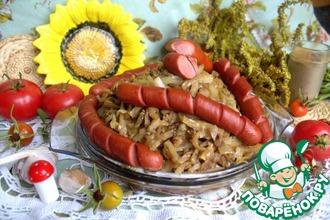 Рецепт: Тушёная капуста по-корейски
