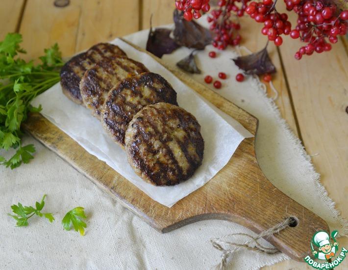 Рецепт: Котлеты-гриль из индейки Пикантные