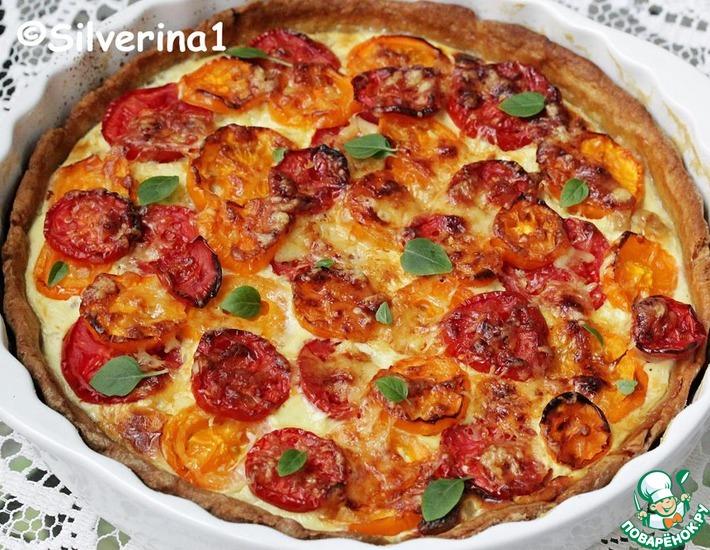 Рецепт: Тарт с помидорами и тунцом