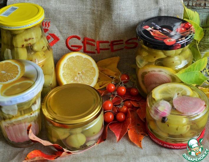 Рецепт: Маринованные зелёные помидоры Русские оливки