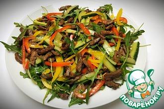 Рецепт: Тёплый салат с говядиной
