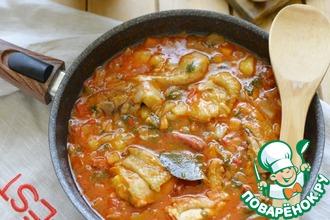 Рецепт: Куриный айнтопф на томатном соке