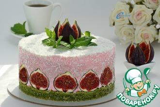 Рецепт: Торт  Шпинат-малина-инжир