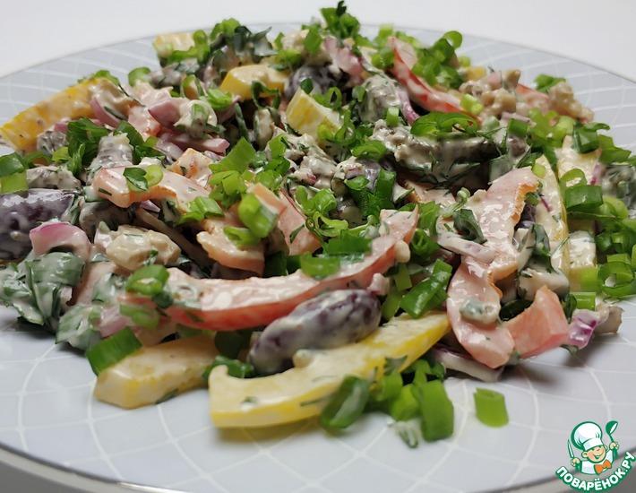 Рецепт: Простой салат с говядиной и фасолью