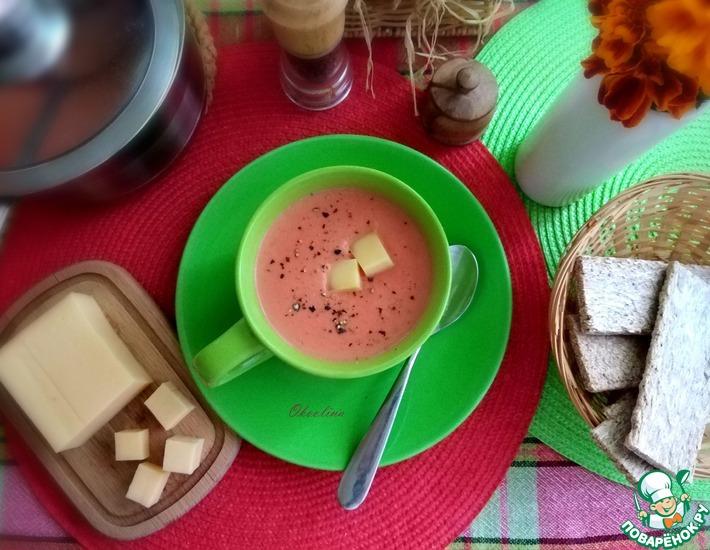 Рецепт: Свекольный крем-суп с сыром