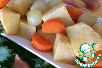Рецепт: Горячий салат из корня сельдерея