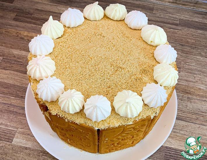 Рецепт: Торт из печенья и еще трех ингредиентов