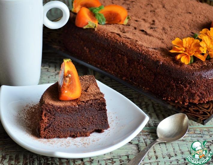 Рецепт: Шоколадный торт с хурмой Восхищение
