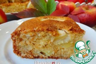 Рецепт: Яблочный пирог без яиц на кефире