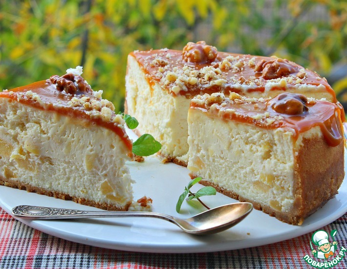 Рецепт: Сладко-соленый чизкейк Сиртаки