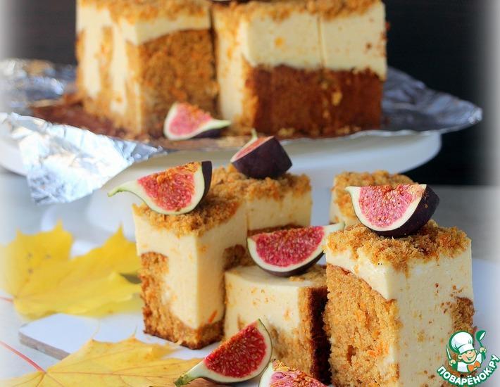 Рецепт: Морковный пирог с персиковым суфле