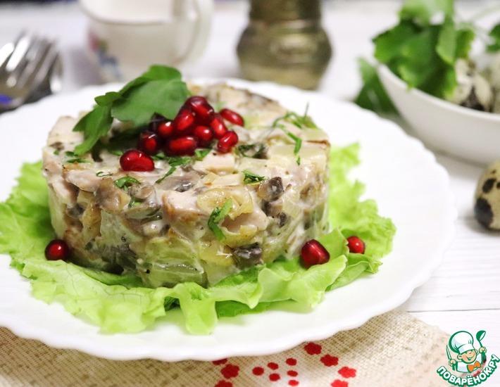 Рецепт: Салат Премиум с курицей и ананасом